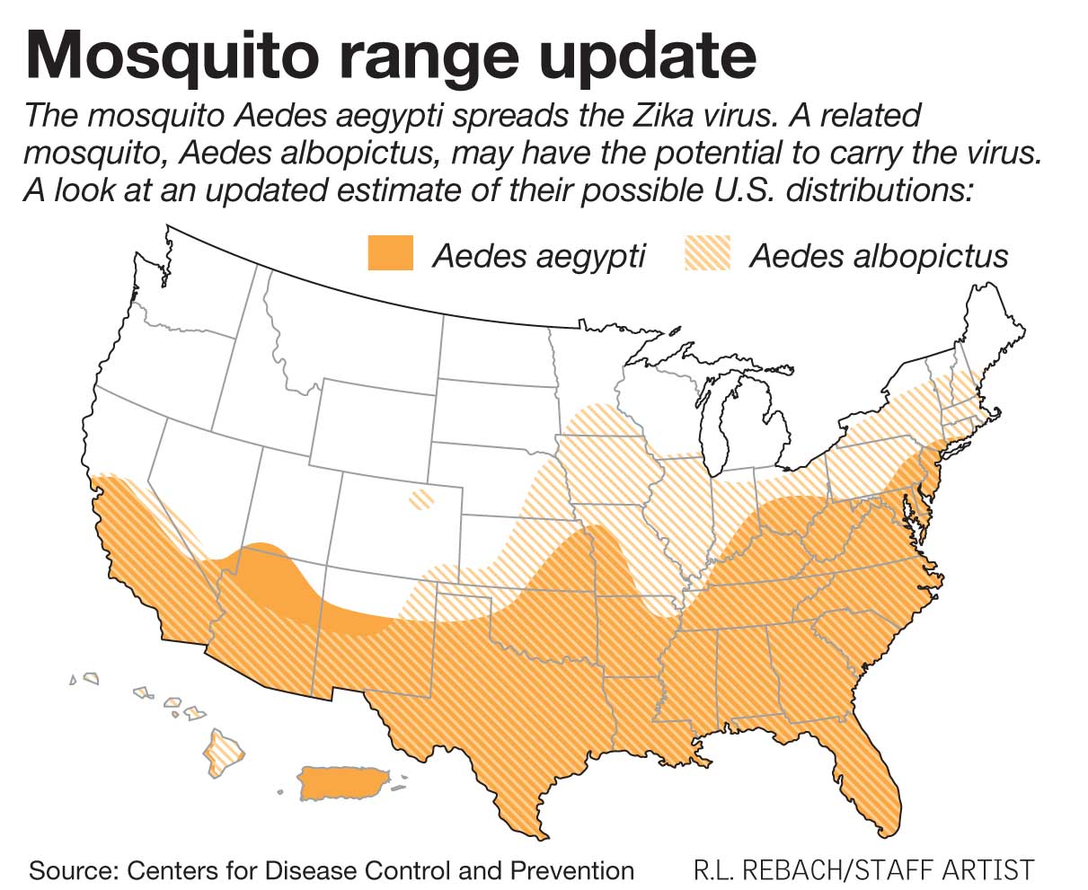 Mosquito Range in the US The Tick and Mosquito Project