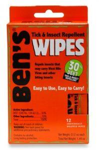 Ben's Mosquito Wipes