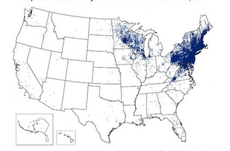 Where Lyme Disease Occurs Map
